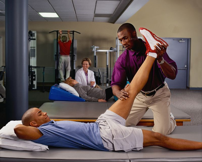 Student Providing Physical Therapy for a Patient