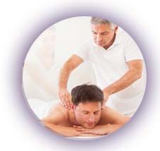 Massage Therapist Giving a Man a Neck Massage